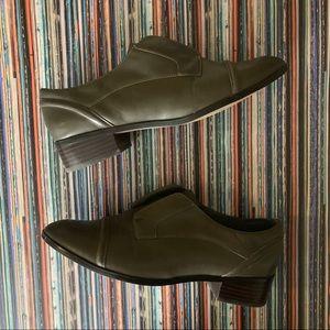 Halogen Olive Gray Genuine Leather Oxford Wm 7.5M